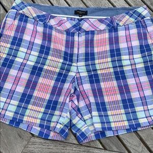 Talbots Woman Plaid Shorts Size 18